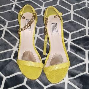 Yellow Shoedazzle Heels